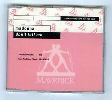 PROMO MAXI CD SINGLE MADONNA DON'T TELL ME