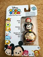 NIP Disney Tsum Tsum Series 2 - Ariel, Mickey Mouse & Queen of Hearts 3-Pack