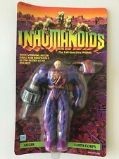 Inhumanoids Auger Vintage 1986 Action Figure~New MOSC Unpunched w/ Corner Lifts