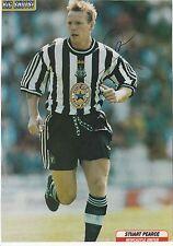 Stuart Pearce Newcastle Utd David Unsworth Firmado Original Revista De Corte