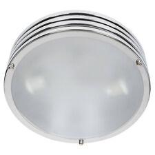 Plafoniera Da Soffitto 120W Lampada Moderna Tonda In Metallo e Vetro Satinato