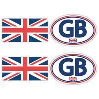 GB Union Jack Laminated Sticker Set Small Car Motorbike Scooter Vespa Decals