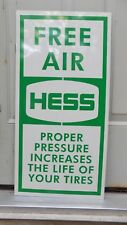 NEW! 50'S-'60'S STYLE HESS GAS STATION FREE AIR DEALER SIGN/AD GARAGE MANCAVEART