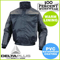 Pro Heavy Duty Waterproof Warm Mens Bomber Jacket Coat Hood Mechanics Tradesman