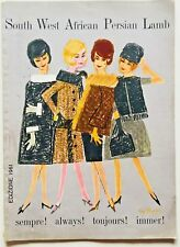 South West African Persian Lamb Vintage Magazine 1961 Fashion Coats ultra rare