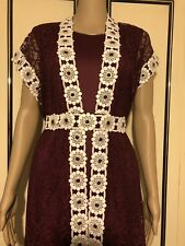 Moroccan Netted Takchita with Belt UK SIZE 16/18 LARGE