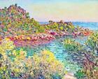 """CLAUDE MONET ~ Monte carlo Landscape ~ *FRAMED* CANVAS ART Poster ~ 16""""X 12"""""""