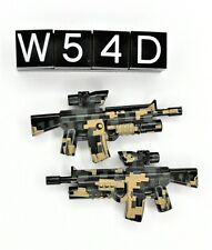 2 Lego Military Army Minifigure Weapon M4 (Lot W54D)