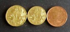 5, 10 + 20 CENT EURO-moneta Francia memorizzare anno 2001 da circolazione pezzi da collezione