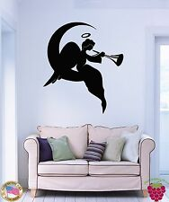 Wall Stickers Vinyl Decal Religion Religious Angel On A Moon Decor  (z1813)