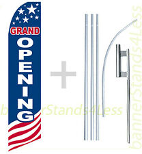 Grand Opening - Swooper Flag 15' Kit Feather Flutter Tall Banner Sign - Usa bb