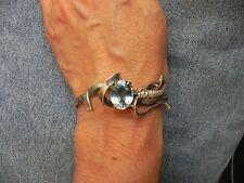 Blue Topaz Sterling Silver Cuff Bracelet by E Piaso & Les Baker Navajo