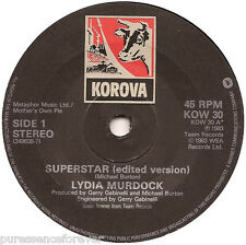 "LYDIA MURDOCK - Superstar (UK 2 Track 1983 7"" Single)"