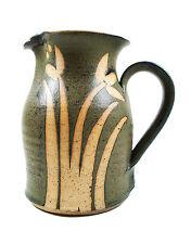 Vintage Studio Pottery Pitcher - Wax Resist Decoration - Signed - Mid 20th C.