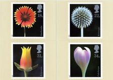 20 JANUARY 1987 FLOWERS SET OF ALL FOUR PHQ CARDS 99 MINT