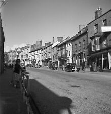 B/W 6x6 Negative Helston High Street Shops Cars Cornwall 1950s +Copyright Z248