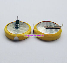 2 x New Tabbed 3V CR2450 Battery Cell Button 2 solder Horizontal Tabs/Pins 24mm