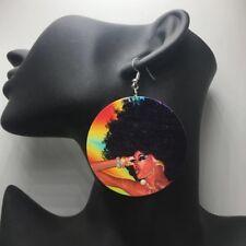 Black Queen Earings african lady afro girl