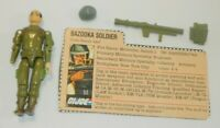 1982 GI Joe Bazooka Soldier Zap Straight Arm v1 Figure File Card *Complete READ*