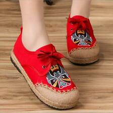 Women's Chinese Embroidered Cotton Linen Flat Shoes Floral Mary Jane cloth shoes