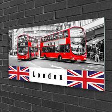 Wandbilder 100x50 Glasbild Druck auf Glas London Busse Kunst
