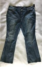APT 9 Jeans 20 Womens Plus Bootcut Mid Rise Embellished Blue NWT