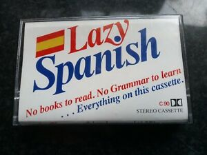 Lazy Spanish Learning Cassette for Home Learning - Language Course