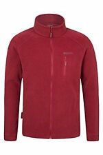 Mountain Warehouse Mens Autumn Winter Rowan Fleece Jacket Top Burgandy size xs