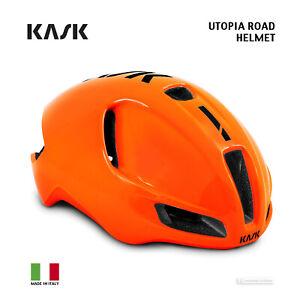 Kask UTOPIA Aero Road Cycling Helmet : ORANGE FLUO/BLACK