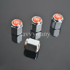 Car Red Tire Tyre wheel Valve Stems Caps For Fiat All Model 4PCS/SET