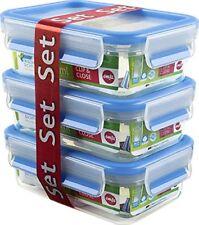 Emsa 508570 Clip  Close Colour 3-piece set of food storage containers 0.55 litr