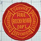 OHIO, ROCKY RIVER FIRE DEPT ROUND PATCH