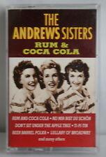 The Andrews Sisters Rum & Coca Cola Cassette 1994