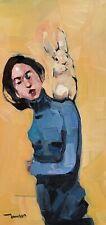 JOSE TRUJILLO Oil Painting IMPRESSIONISM PORTRAIT EXPRESSIONIST MODERN BUNNY