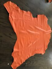 "Orange pebbled Italian leather cowhide pelt.   37""  X 45""          (36a)"