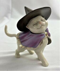 VINTAGE LENOX MOONLIGHT MINX CAT CERAMIC FIGURINE HALLOWEEN WITCH KITTEN
