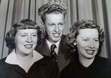 Vintage Black & White Snapshot Photo 1950s Doo Wop Rock N Roll Kids Hair Beatles