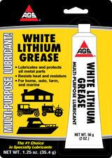 AGS WHITE LITHIUM GREASE Multi Use Lubricant Lube AUTO FARM MARINE HOME 1.25 oz