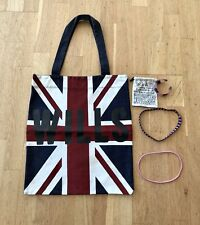 Jack Wills Bundle, Union Jack Cotton Bag With Bangle And Hair Bands