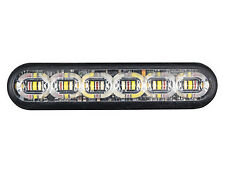 "SOUND OFF EMPS2SMS4F mpower 4"" Fascia Light w/ Screw Mount, 12 LED Amber/White"