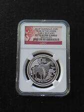 2014 1/2 oz .999 Fine Silver Australian Lunar Horse Proof PF 70 UC Early Release