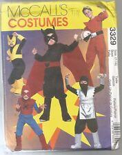 McCalls Sewing Pattern 3329, Super Hero Costumes, Size Child 7 - 14, Uncut