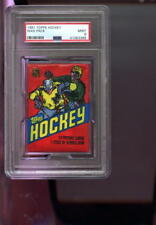 1981-82 Topps Hockey Card Unopened Wax Pack Lollipop Back NHL Graded MINT PSA 9