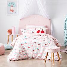 Adairs Kids Cherry Baby Pink Single Quilt Cover Set BNIP RRP $99.99