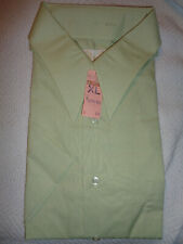 New Deadstock Kings Road Men's Xl 17 17.5 Pointed Collar Button Up Shirt Green