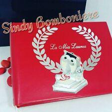 on line Regali per laurea Album per foto in Pelle rossa con scatola regalo