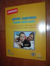 "Staples 8.5""x11"" InkJet photo paper 50 sheets,matte,p/n 564121 NEW UNOPENED PACK"
