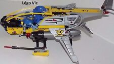 Lego 7160 Hero Factory Transport Avion Fly Drop Ship complet Notice  CNG12
