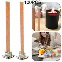 50 Stück Holzdocht Kerze Kern Sustainers Tab DIY Kerzenherstellung mit Basis