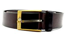 Hugo Boss Vintage Mens Leather Belt Brown Size 36